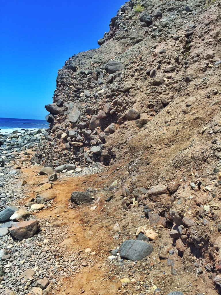 Narrow Path that leads to the Dana Point Sea Caves