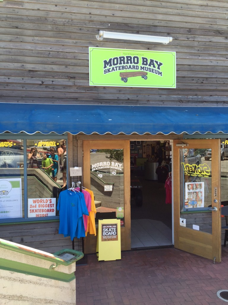 Front of the Morro Bay Skateboard Museum