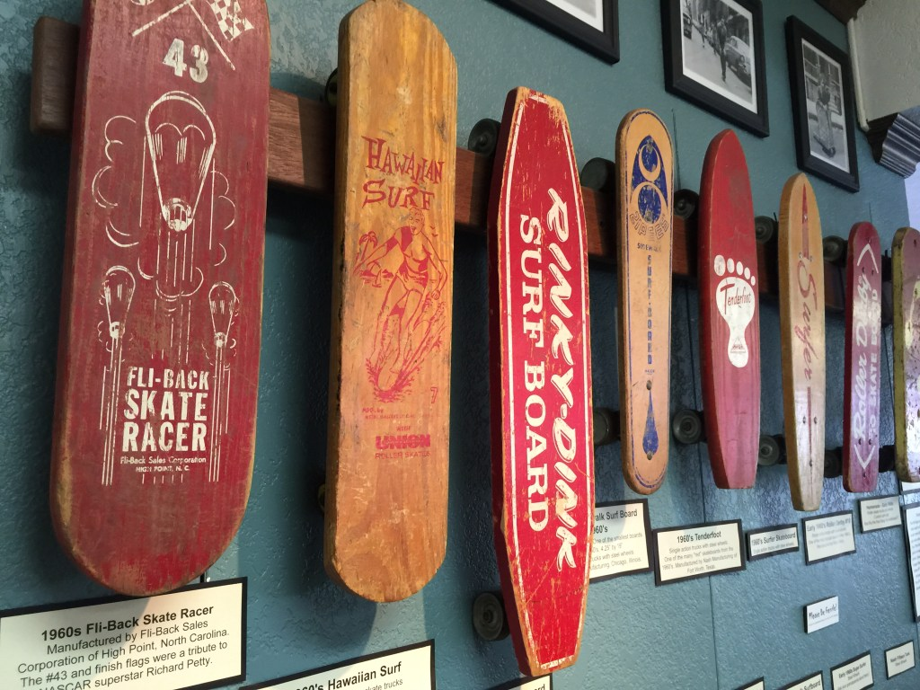 Rare Skateboards at the Skateboard Museum in Morro Bay