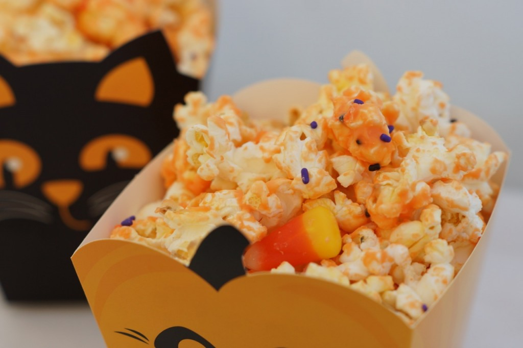 Halloween Popcorn with Candy Corn