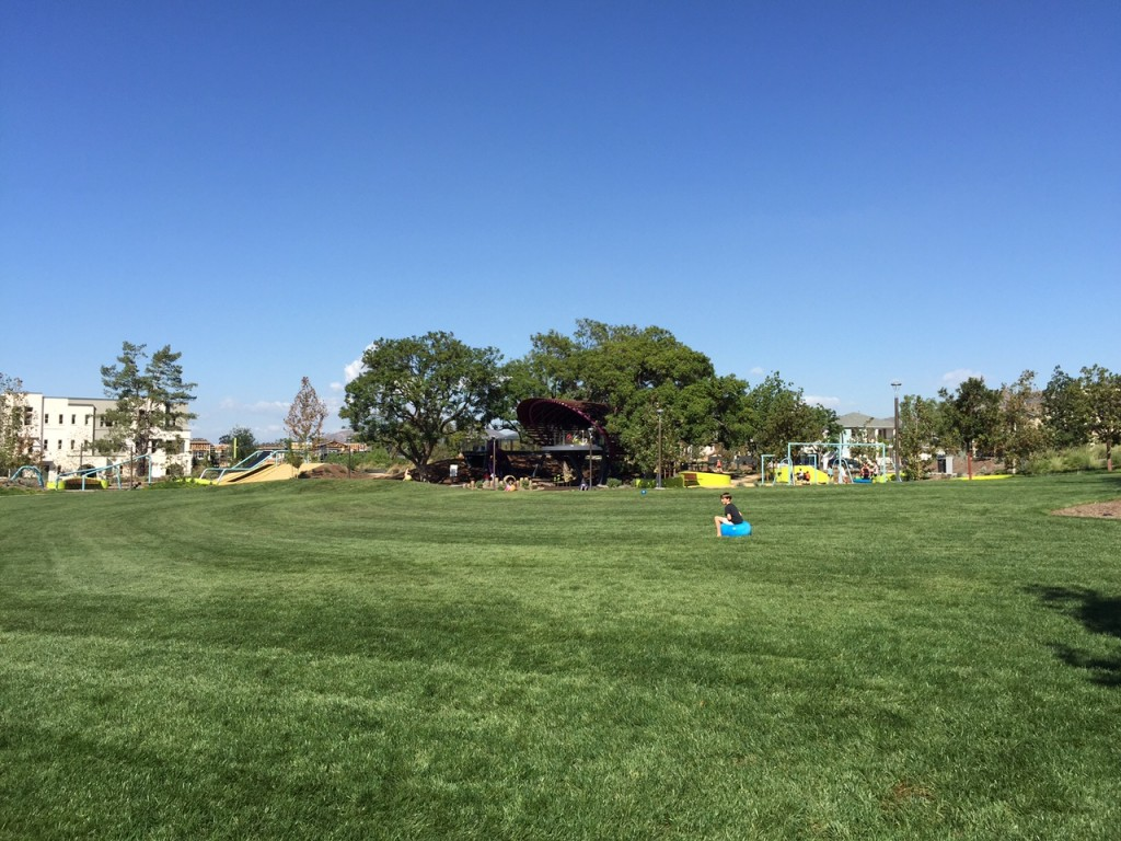Large grass area at Beacon Park in Irvine