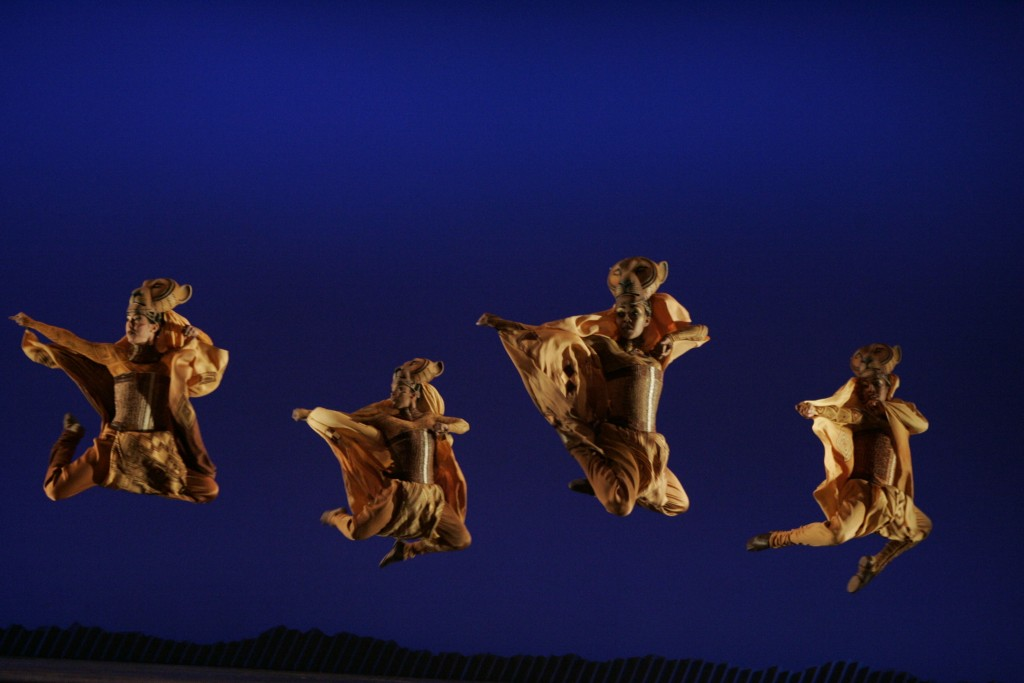 Lions Dancing during Lion King the Musical