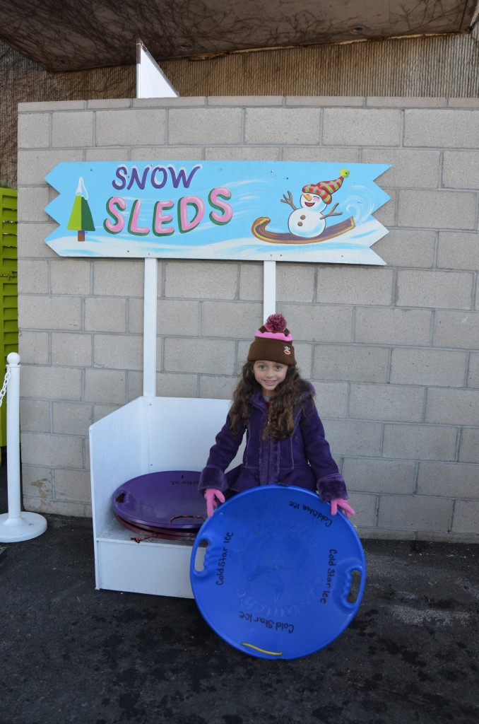 Snow Sleds at Discovery Cube OC