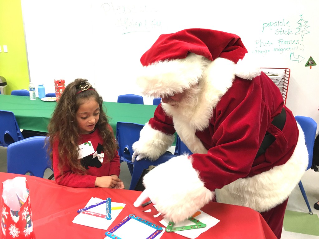 Coloring with Santa at Pretend City