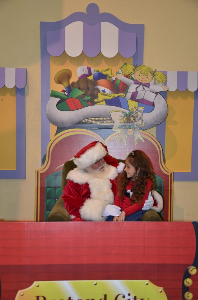 Visiting Santa at the Pretend City Children's Museum