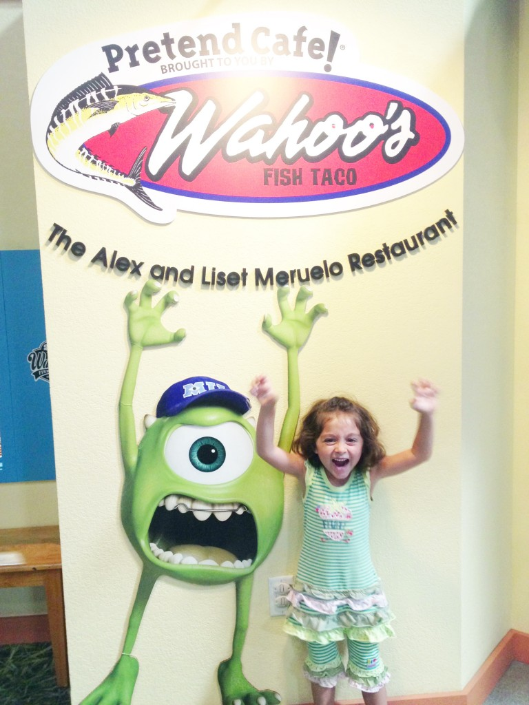 Having fun at the Wahoo's Pretend City Cafe