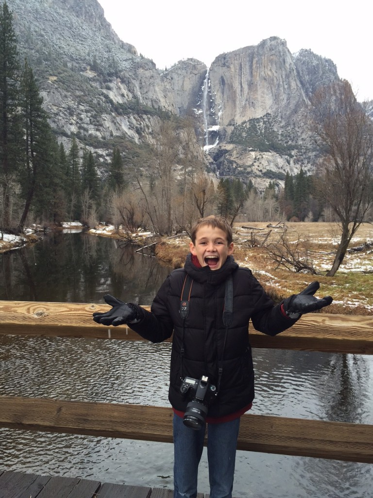 It's Snowing in Yosemite