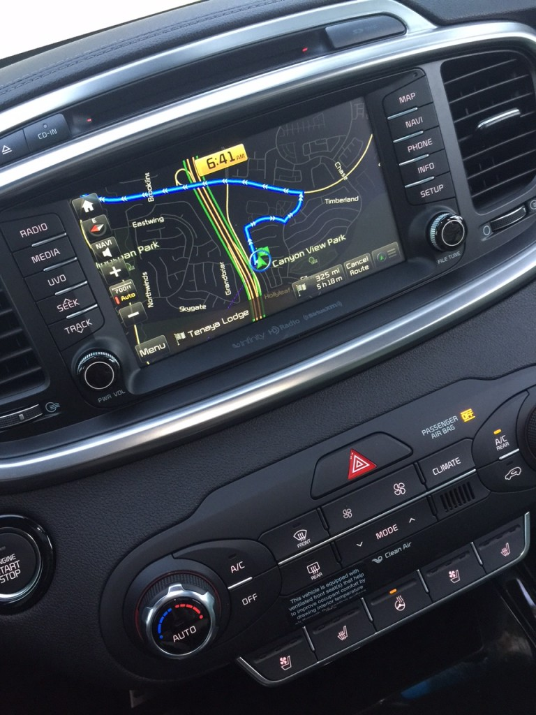 Navigation on the Kia Sorento