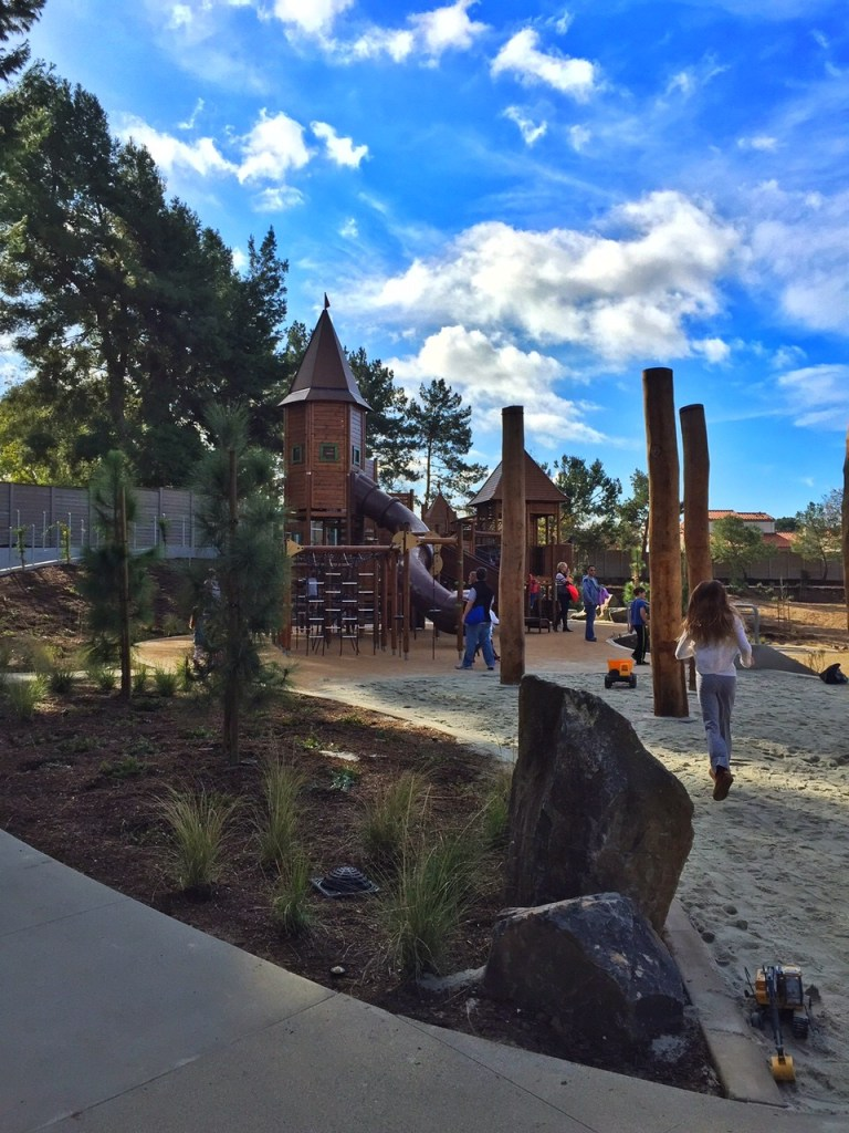 Play structure at Adventure Playground