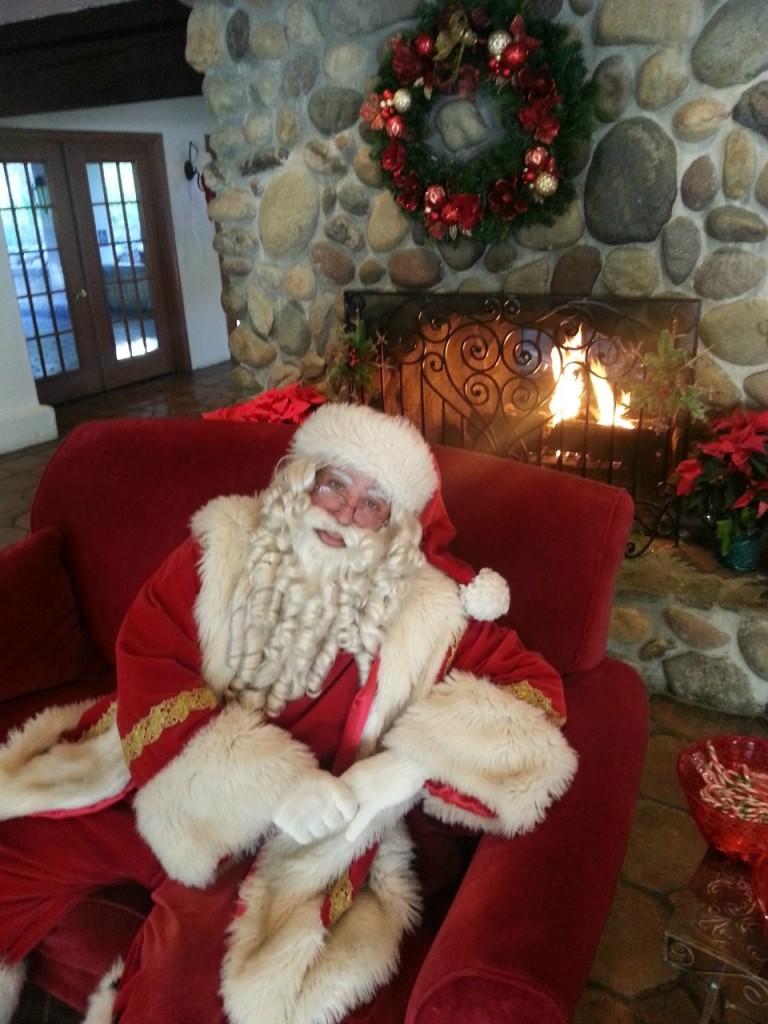 Santa at Christmas at the Cages