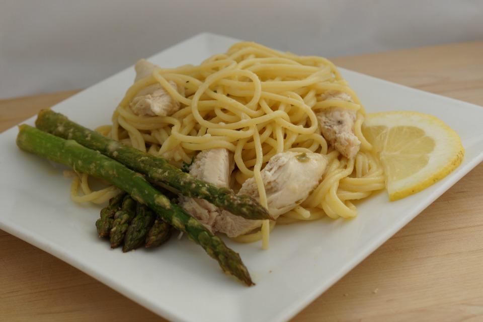 Chicken Piccata with Asparagus