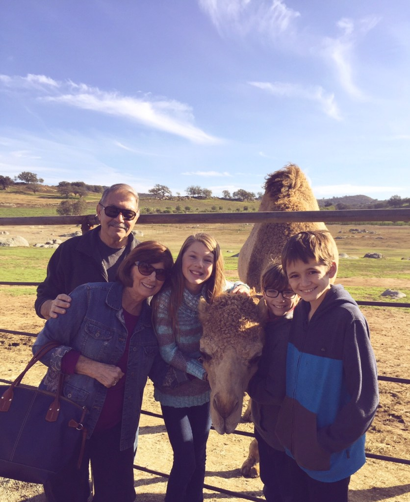 Family at Oasis Camel Farm