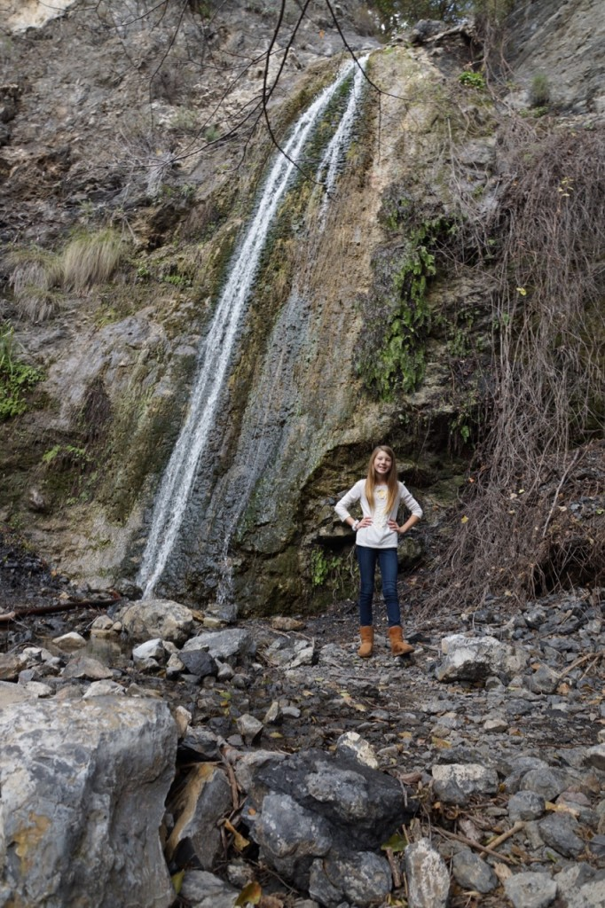 Hidden waterfall in Trabuco Canyon