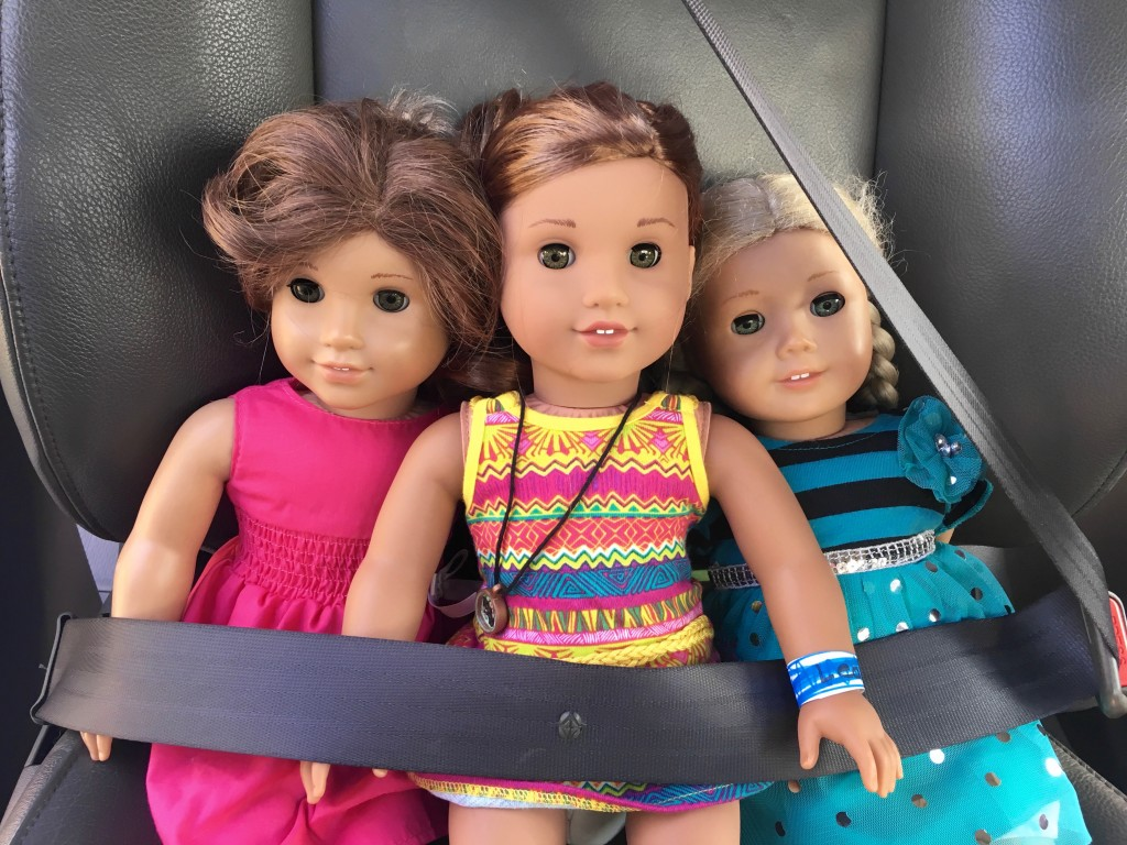 American Girl Dolls Driving home from Los Angeles