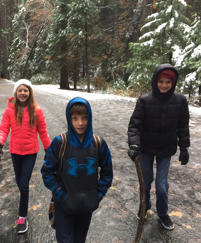Kids Hiking to Mirror Lake