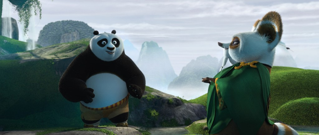 Po on an adventure in Kung Fu Panda