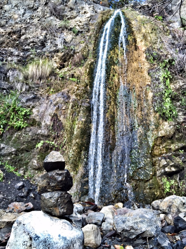 Rock art and OC waterfall