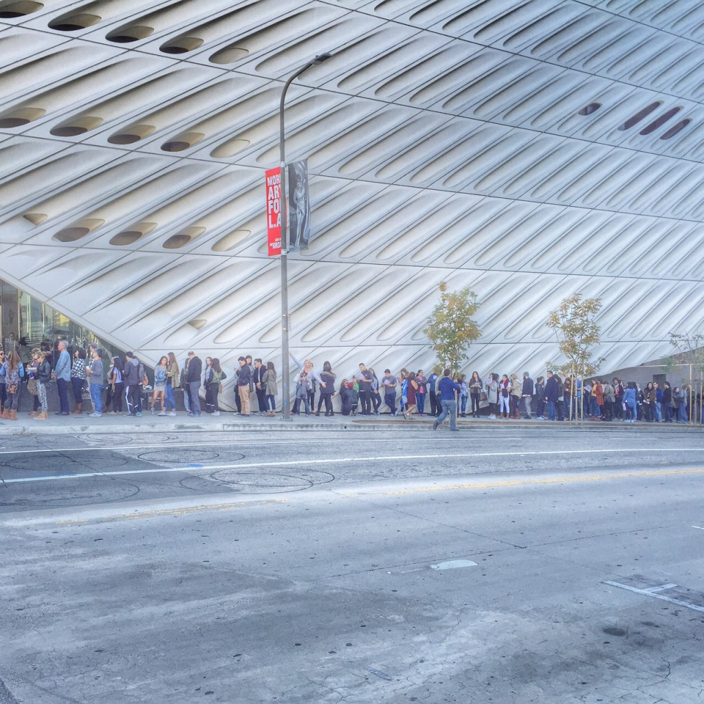 standby line at the broad