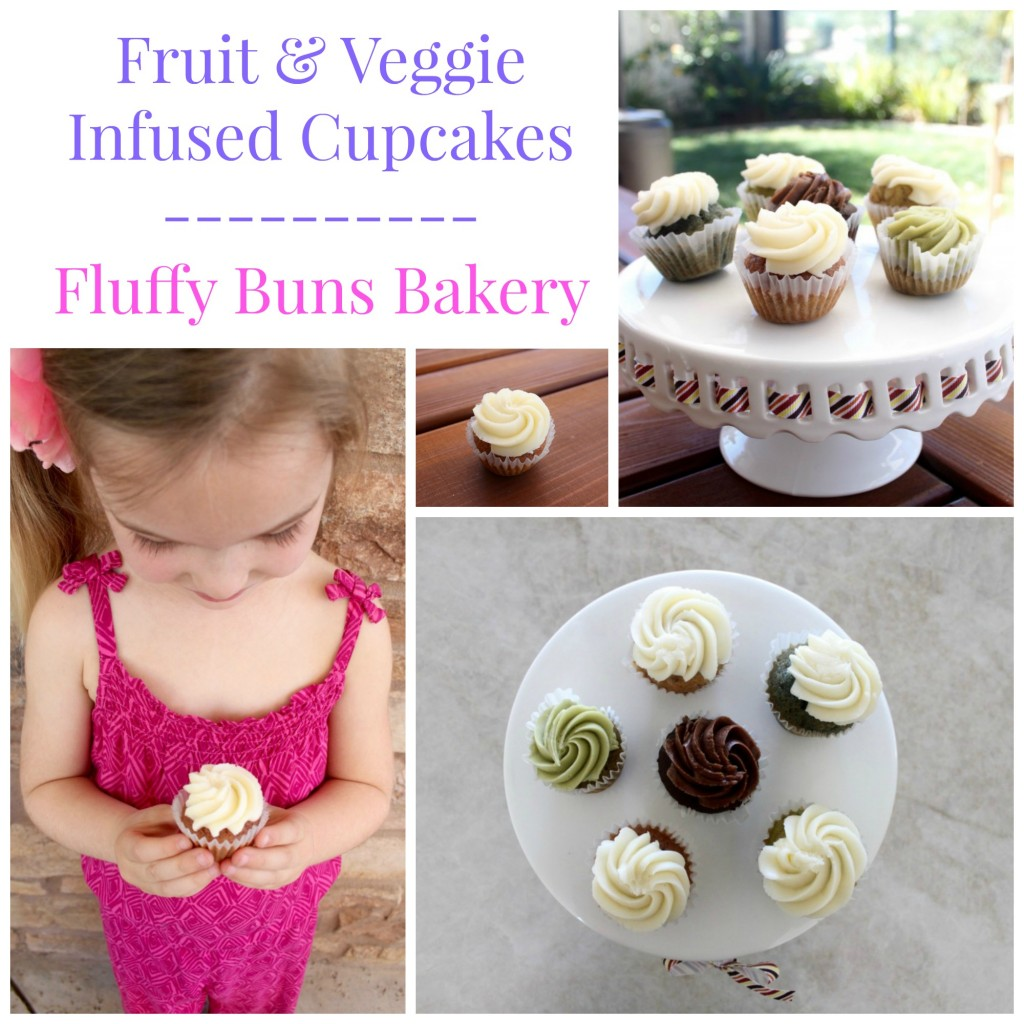 Fruit and Veggie Infused Cupcakes at Fluffy Buns Bakery