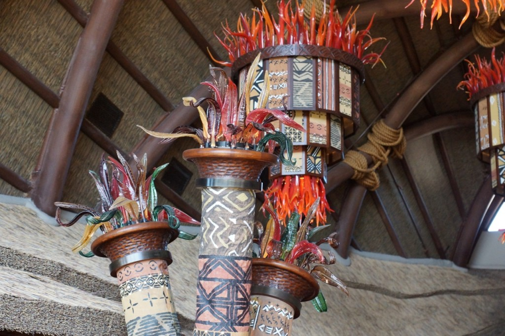 Neat sculptures in animal kingdom lobby