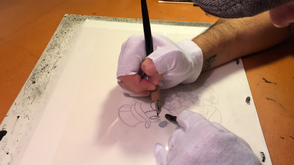 drawing the lines on an animation cell