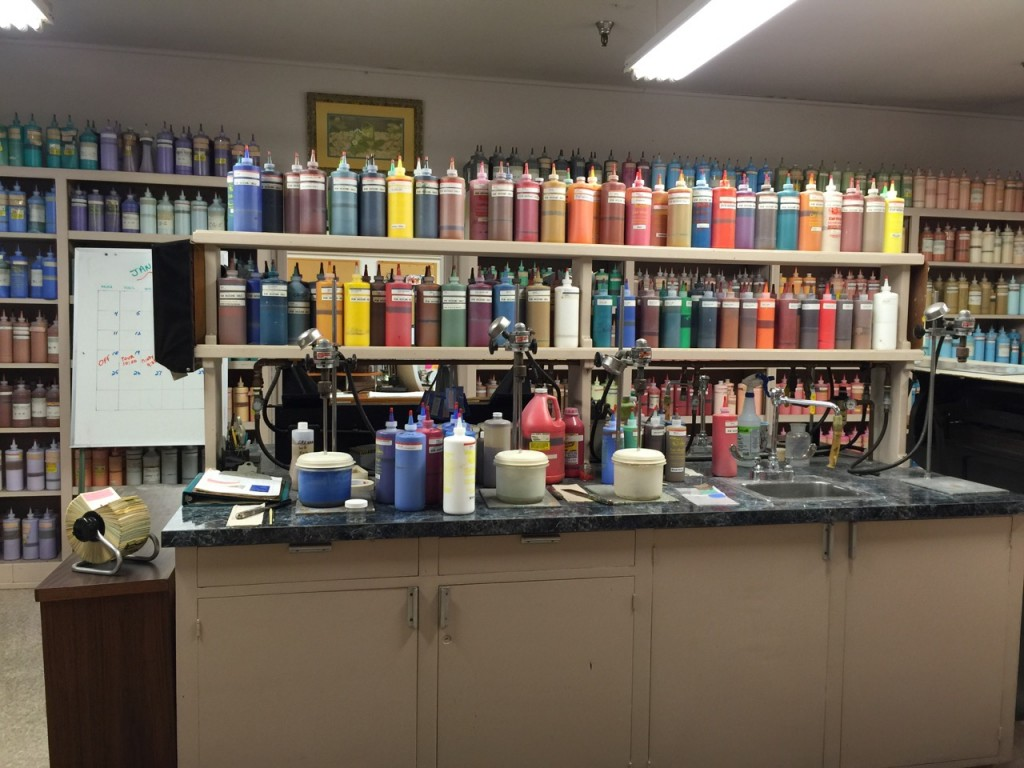the ink & paint department work table