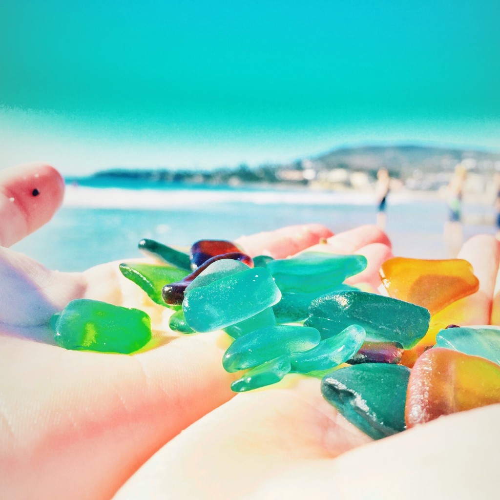 Finding seaglass in laguna beach
