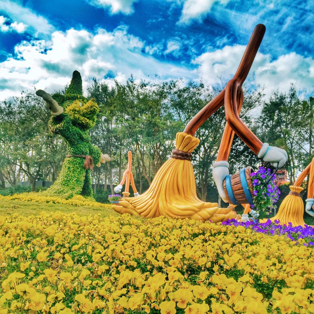 Flowers in front of Disney's Hollywood Studios