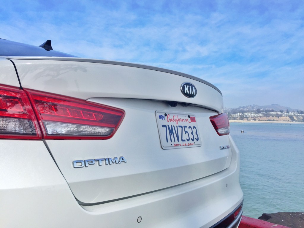 Kia Optima at the beach