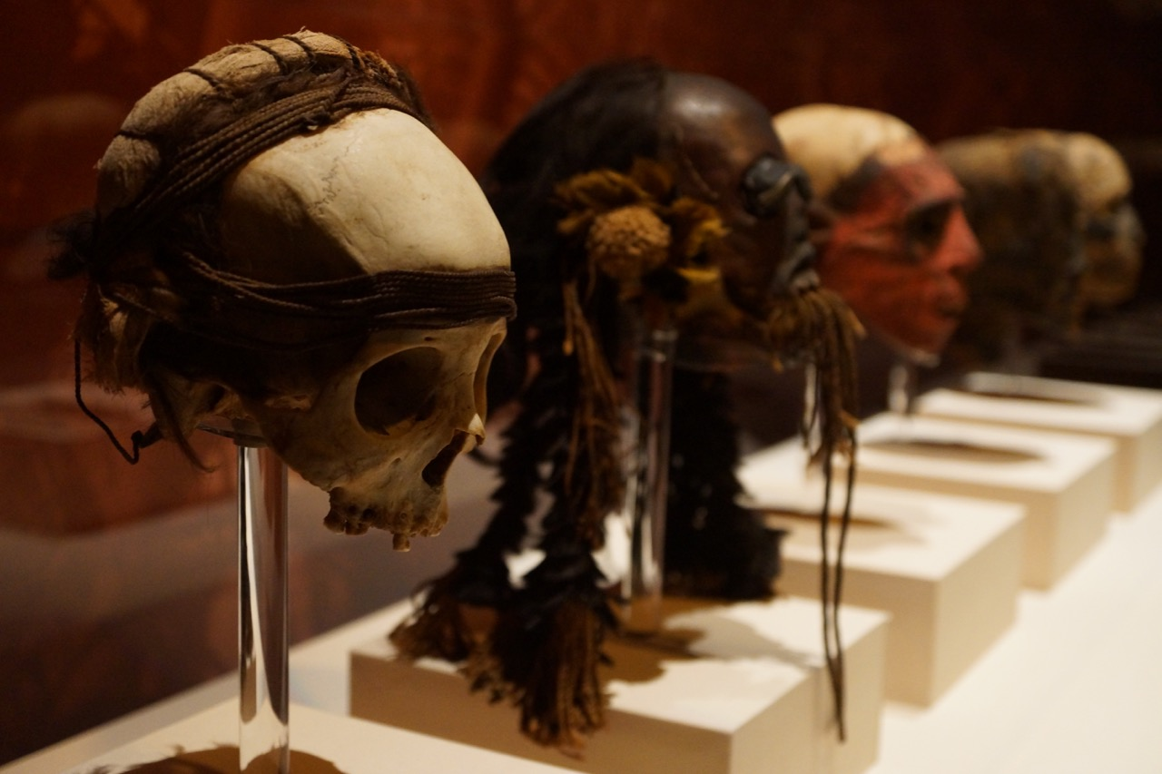 ancient tribal heads