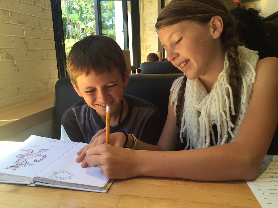 Coloring at Hopdoddy