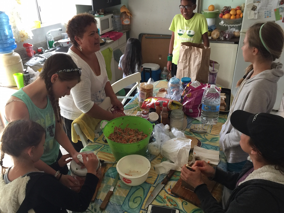 Making Ceviche in mexico