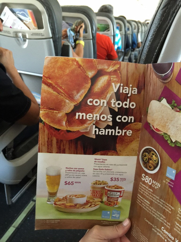 Food Options on Volaris