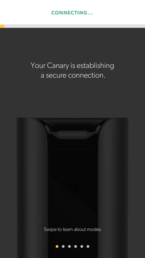 connecting the Canary Home Security