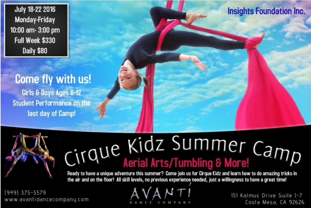 Avanti Cirque Kidz Summer Camp
