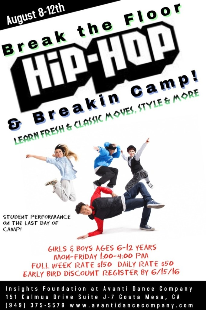 Avanti Hip Hop Dance Camp