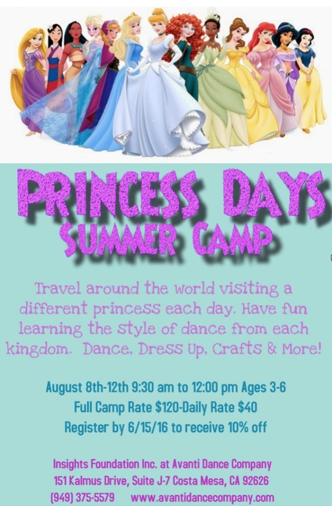 Avanti Princess Day Camp