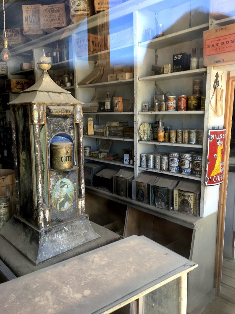 Inside a store in Bodie