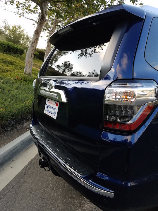 Rear angle of Toyota 4Runner