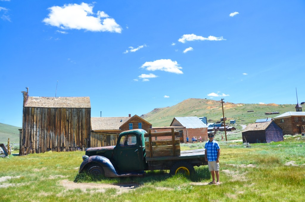 an old truck in Bodie