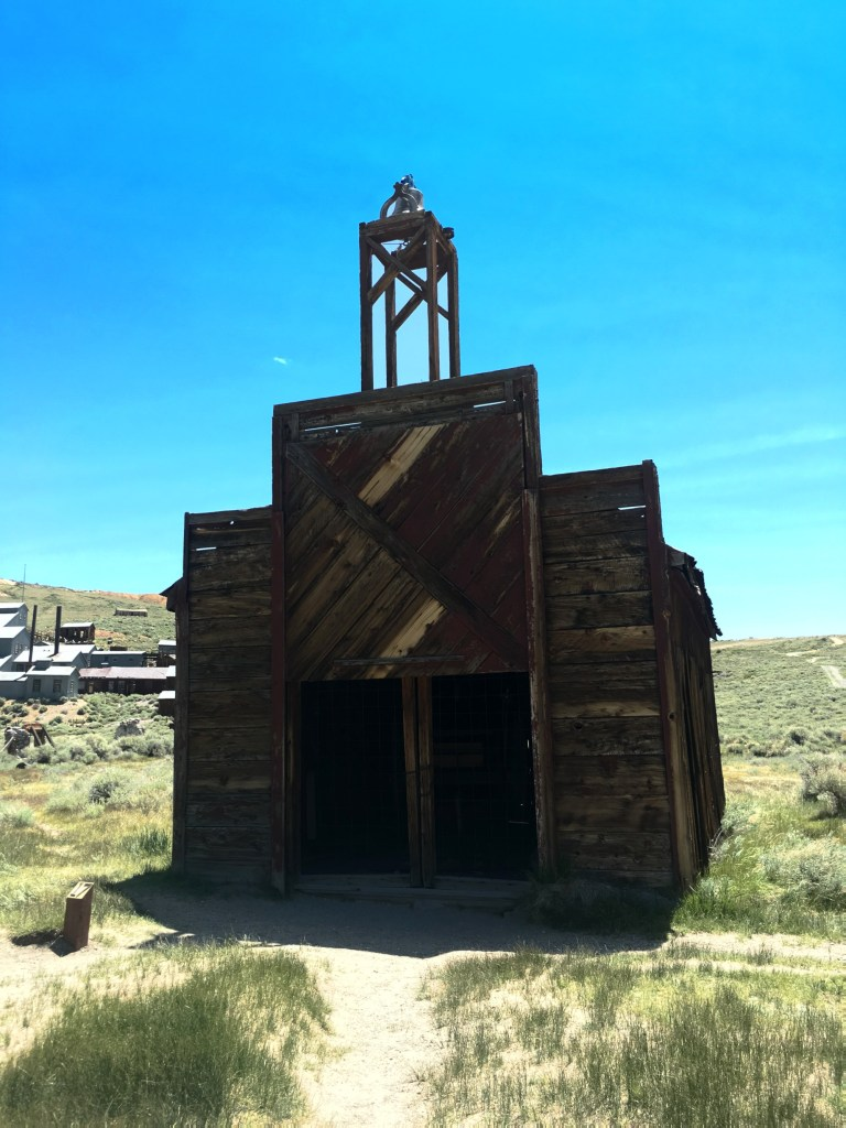 an old work shed in Bodie