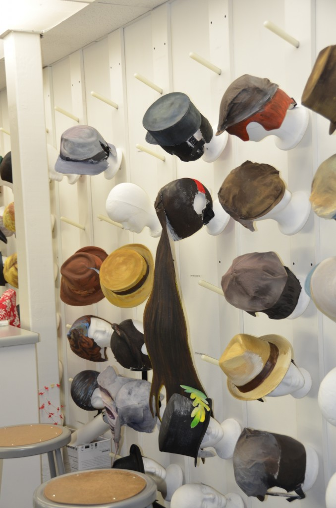 hats work in Pageant of the Masters
