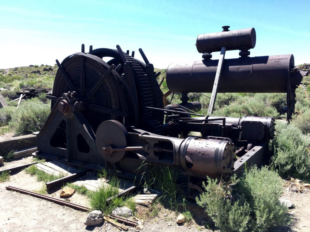 mining equipment in bodie