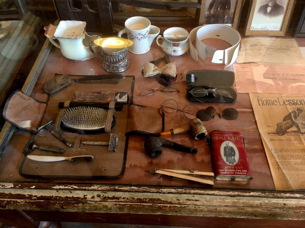 personal items from families in bodie