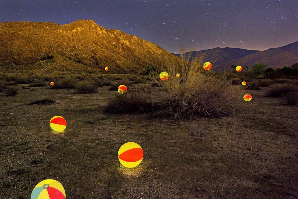 Balls Glowing at Barnsdale Park