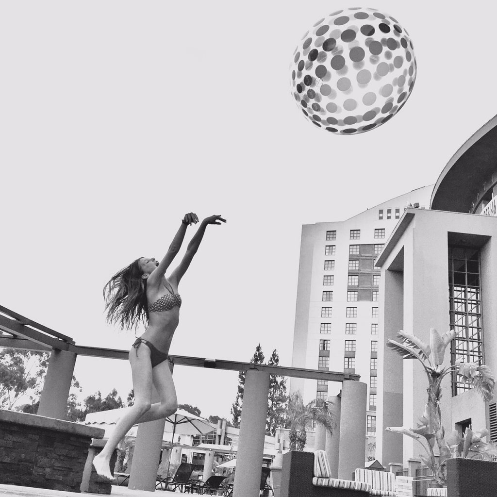 Beach ball fun at Hyatt La Jolla