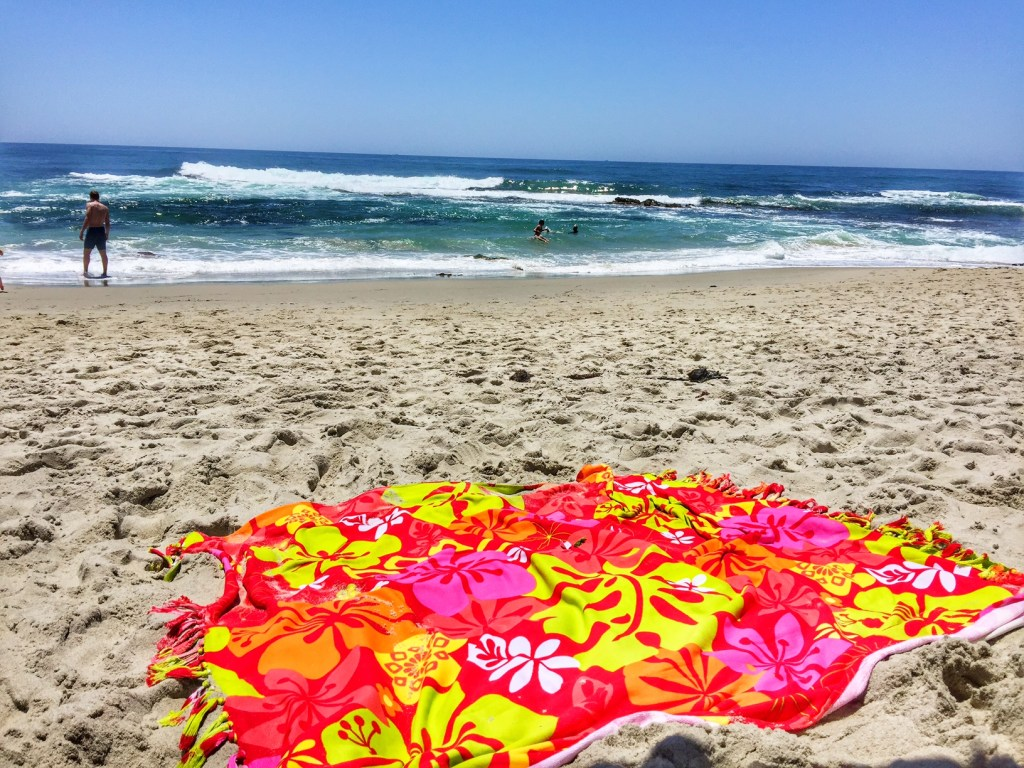 Beach blanket in La Jolla
