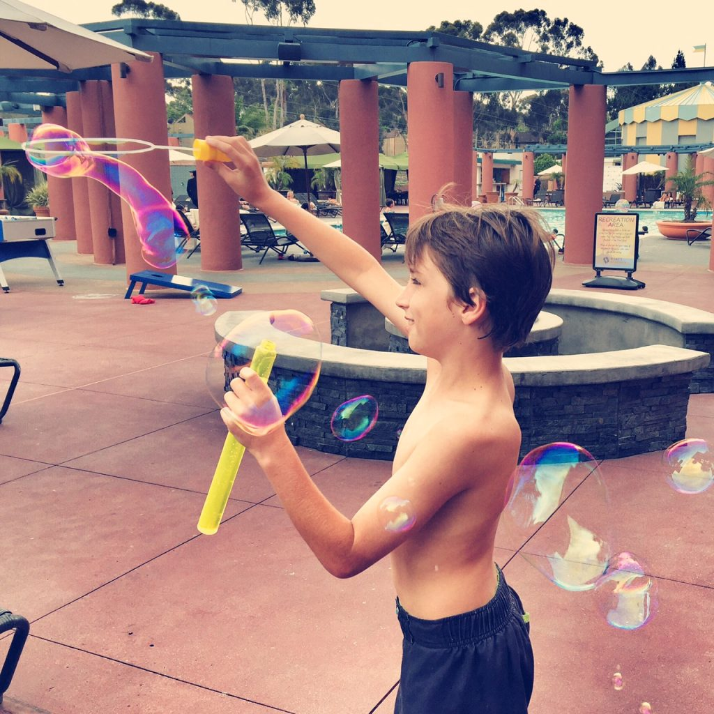 Bubble fun at Hyatt La Jolla