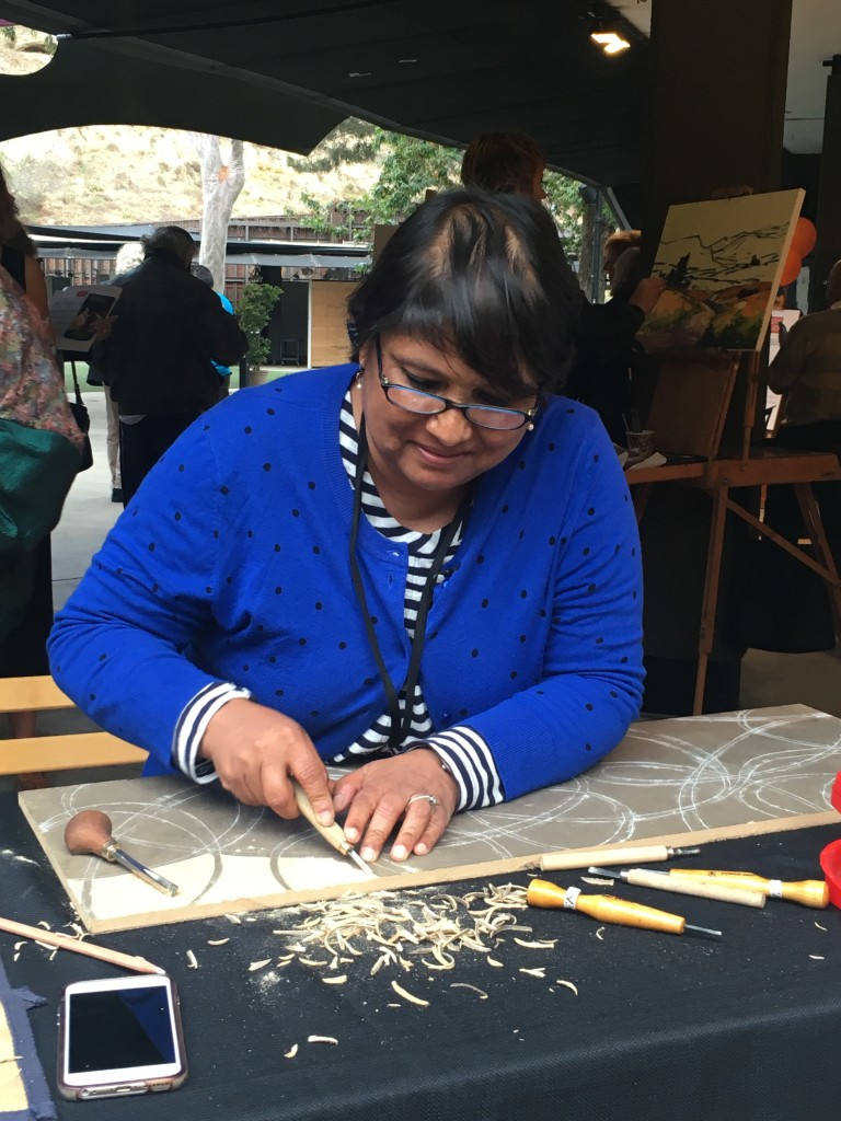 Creating a masterpiece at the Festival of Arts