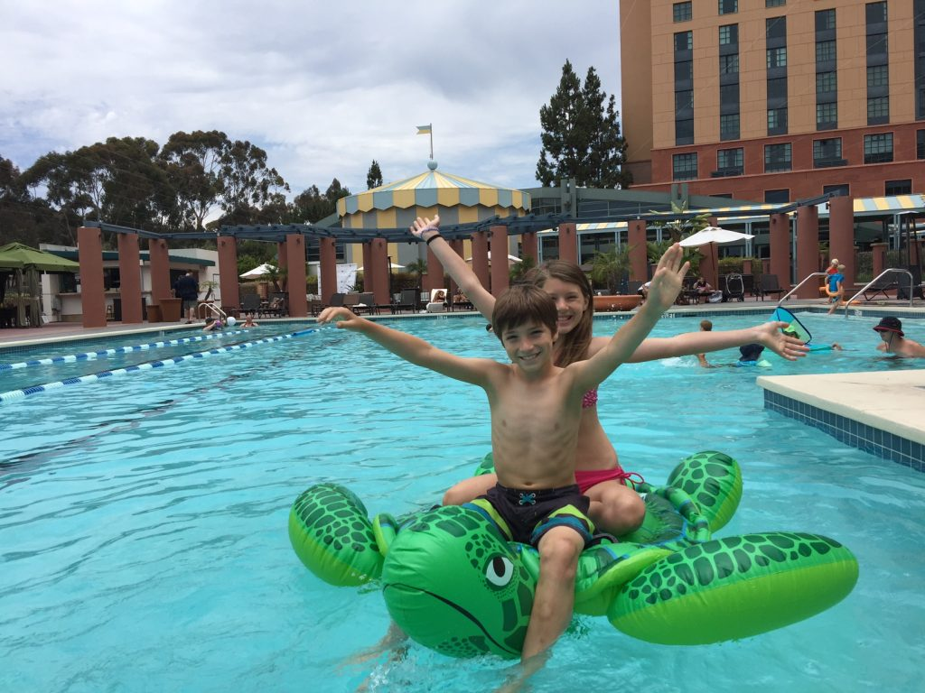 Fun in the pool at Hyatt La Jolla
